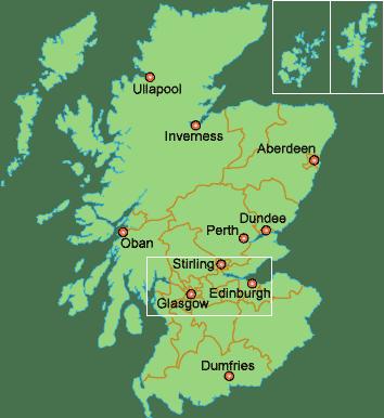 Skócia_térkép